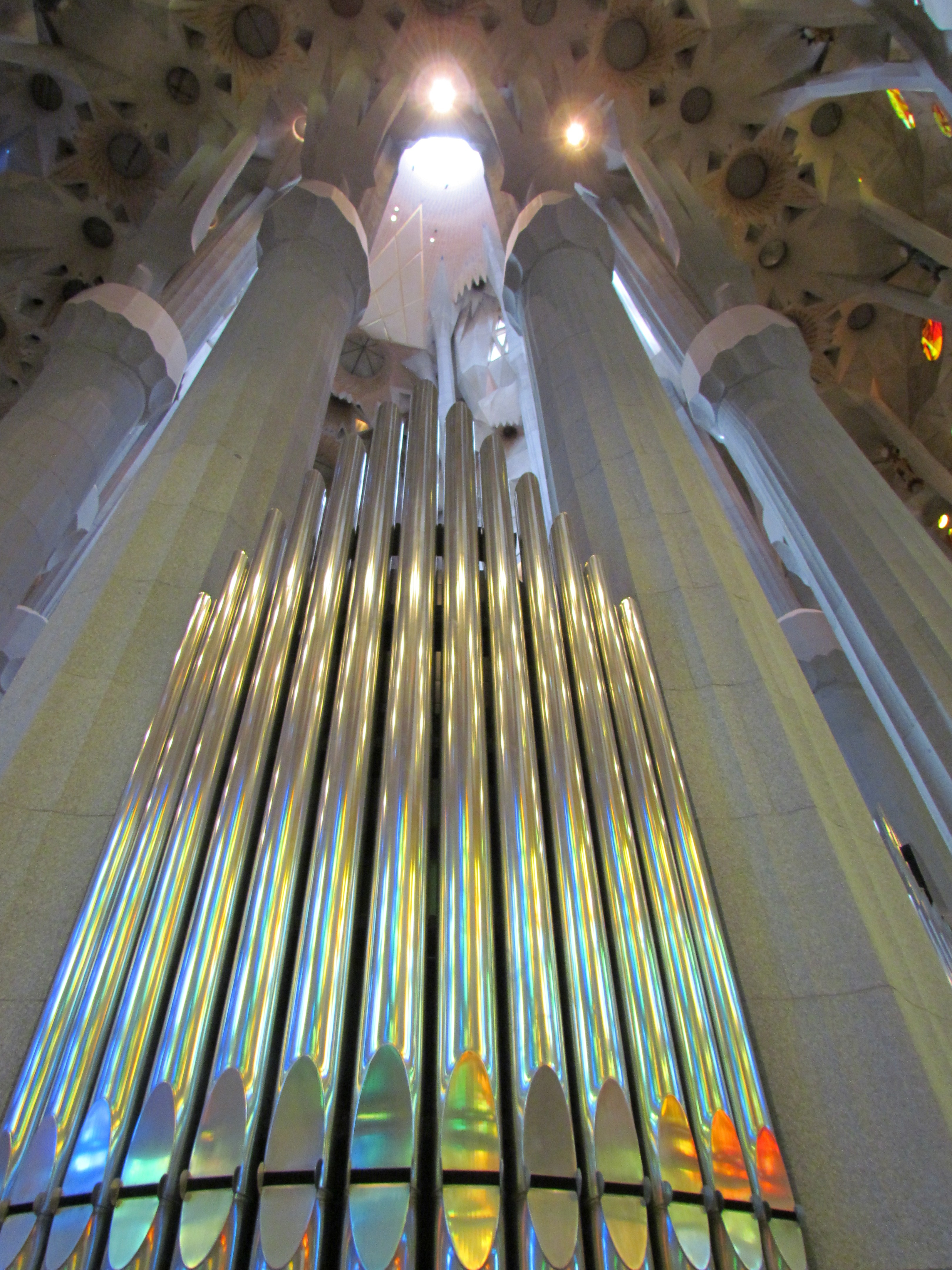 Cruises From Miami >> Part of the pipe organ, La Sagrada Familia